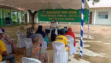 Photo of TMMD Kodim 0316/Batam Lakukan Penyuluhan Kesehatan dan KB Kepada Warga Tanjung Gundap