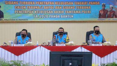 Photo of Polda Banten Umumkan Kelulusan Taruna/I Akpol dan Tamtama Polri T.A. 2020 Di Aula Serbaguna