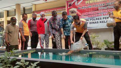 Photo of Tingkatkan Ketahanan Pangan, Polsek Pekalongan Barat Tebar Bibit Ikan Nila dan Bibit Ikan Gurami