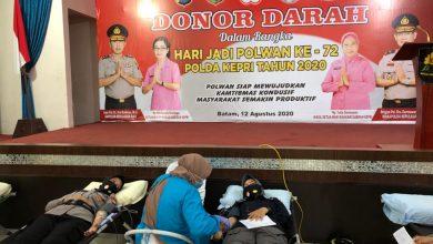 Photo of Dalam Rangka Hari Jadi Polwan Ke-72, Polda Kepri Gelar Donor Darah
