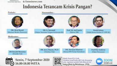 Photo of Webinar P3S : Berikut Pernyataan Para Pakar Terkait Krisis Pangan