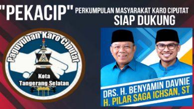 """Photo of Pilkada 2020 Tangsel, Masyarakat Etnis Karo Ciputat """"PeKACIP"""" Dukung Paslon H Benyamien Davnie – H Pilar Icshan"""