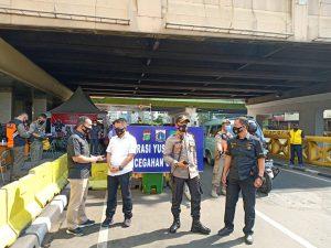Polsek Metro Tanah Abang Tindak Sejumlah Pelanggar PSBB