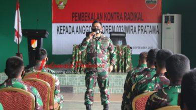 Photo of Korem 033/WP Gelar Pembekalan Kontra Radikal Kepada Prajurit