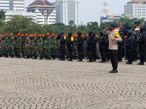 Antisipasi Aksi Unras, Polri dan TNI Apel Gelar Pasukan