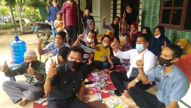 Photo of Calon Bupati Radiapo Hasiholan Sinaga Silahturahmi dengan Masyarakat Pematang Dolok Kahean