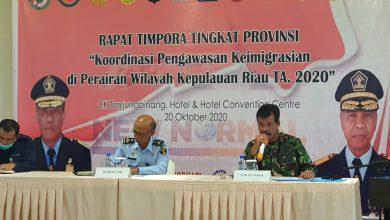 Photo of Danlantamal IV Sebagai Narasumber dalam Rapat Timpora Kepri 2020