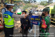 Photo of Operasi Yustisi Tiga Pilar Wilayah Hukum Polsek Cisauk Jaring 5 Pelanggar