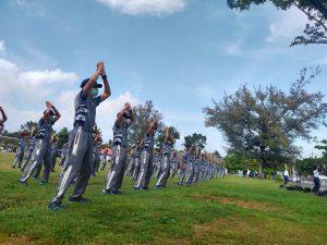 Jaga Kebugaran Tubuh, Taruna dan Taruni Angkatan LXVII Gelar Olahraga Bersama