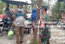 Photo of Babinsa Koramil 10/SK Bagikan Masker kepada Masyarakat