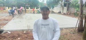 Nur Hakim Kades Tonjong Giatkan Olah Raga Volley dengan Membangun Prasarana