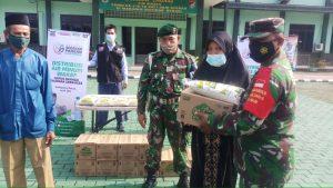 ACT Kabupaten Bekasi dan Kodim 0509/Kabupaten Bekasi Bagikan Sembako