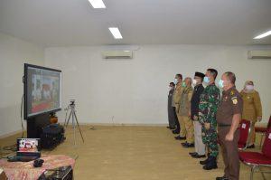 Wali Kota Bekasi dan Jajarannya Ikuti Arahan Presiden Lewat Virtual