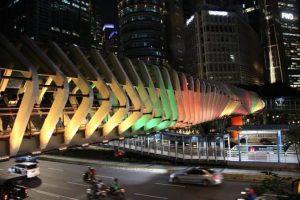 Wow! JPO di Jakarta Berubah Jadi Bendera Palestina
