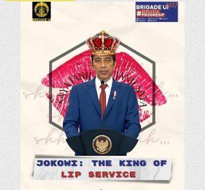 Disebut Kerap Membual, BEM UI: Jokowi The King Of Lip Service