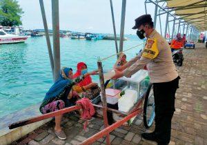 Hari Ini, Polres Kepulauan Seribu Himbau dan Bagikan 1.600 ke Warga