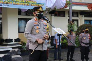 Kapolres Tabanan Pimpin Apel Operasi Aman Nusa II Lanjutan