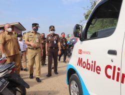 Wali Kota Jakut dan Kajari Monitoring Mobil Vaksinasi Keliling di RPTRA Rorotan