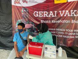 17 Warga Hari Ini Jalani Suntik Vaksin di Gerai Vaksin Presisi Polres Kepulauan Seribu