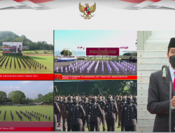 Presiden Jokowi Lantik 700 Perwira Remaja TNI-Polri di Istana Secara Virtual