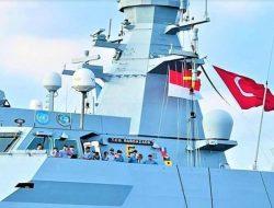 Ada Bendera Merah Putih Berkibar Diatas Kapal Perang Turki