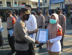 22 Personel Polres Cilacap Terima Penghargaan Atas Dedikasinya