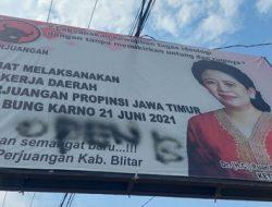 Duh! Baliho Puan di Blitar Jadi Korban Vandalisme Bertuliskan 'Open BO'