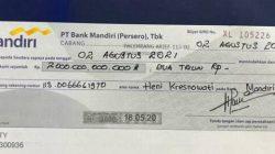 Beredar Foto Bilyet Giro Rp 2 T, PPATK: Uang Itu Tidak Ada