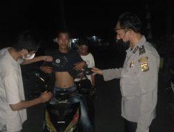 Gelar Razia di Jalan Lintas Pegayut, Polisi Tegur Pengendara Motor Yang Tak Disiplin